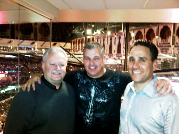 Jimmie Dave Gonnella Dave Howey at bulls game